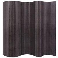 vidaXL Romdeler bambus grå 250x165 cm