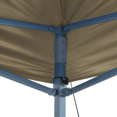 vidaXL Sammenleggbart telt popup 3x4,5 m kremhvit
