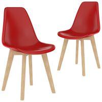 vidaXL Spisestoler 2 stk rød plast