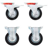 vidaXL Hjul 24 stk 100 mm