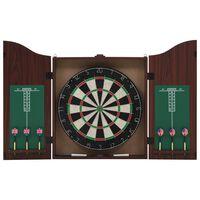 vidaXL Profesjonell dartskive sisal med skap og 6 darts