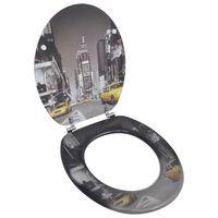 Toalettsete med MDF Lokk New York Design