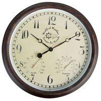 Esschert Design Stasjonsklokke med thermo-hygrometer 30,5 cm TF008