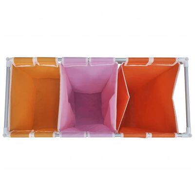 vidaXL Skittentøyskurv 3-delt med vaskekurv