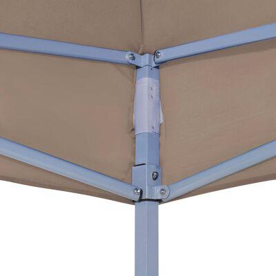 vidaXL Teltduk for festtelt 3x3m gråbrun 270 g/m²