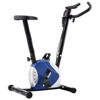 vidaXL Treningssykkel med beltemotstand blå
