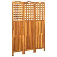 vidaXL Romdeler 3 paneler 121x2x170 cm heltre akasie