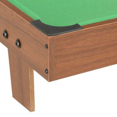 vidaXL Biljardbord mini 92x52x19 cm brun og grønn