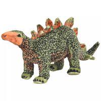 vidaXL Stående lekedinosaur stegosaurus grønn og oransje XXL