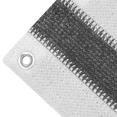 vidaXL Balkongskjerm HDPE 75x600 cm Antrasitt og Hvit