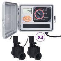 vidaXL Hagevanningsregulator med 6 magnetventiler