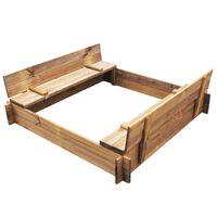vidaXL Sandkasse firkantet tre