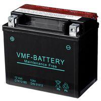 VMF Powersport Liquifix Batteri 12 V 10 Ah MF YTX12-BS