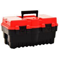 vidaXL Verktøykasse plast 462x256x242 mm rød