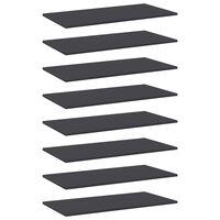 vidaXL Hylleplater 8 stk grå 80x40x1,5 cm sponplate