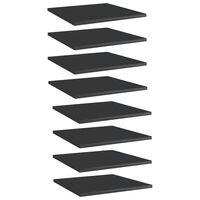 vidaXL Hylleplater 8 stk høyglans svart 40x40x1,5 cm sponplate