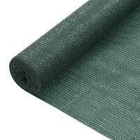 vidaXL Skjermnett grønn 1,5x10 m HDPE 195 g/m²