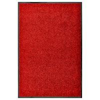 vidaXL Dørmatte vaskbar rød 60x90 cm