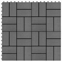 vidaXL Terrassebord 22 stk 30x30 cm 2 kvm WPC grå