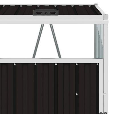 vidaXL Søppeldunkskur brun 72x81x121 cm stål