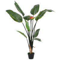 vidaXL Kunstig Strelitzia Reginae plante paradisfuglblomst 155 cm