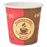 vidaXL Engangs kaffekopper 1000 stk papir 120 ml (4 oz)