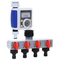 vidaXL Digital vanningstimer for hage med ett utløp og vannfordeler