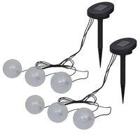 vidaXL Flytende lamper 6 stk LED for dam og basseng