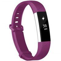 Fitbit Alta / HR armbånd i silikon - sportmodell (S) - mörkröd