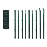 vidaXL Euro gjerde stål 10x1 m grønn