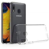 Gjennomsiktig mobilt skall til Samsung M30 / A40S