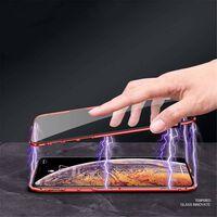 Magnetisk skall til Huawei P20 Lite med skjermbeskytter - rød