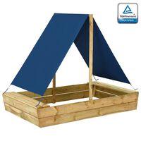 vidaXL Sandkasse med tak 160x100x133 cm heltre furu
