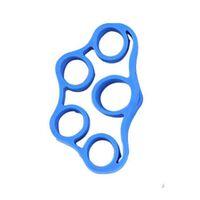 Gummirem for styrketrening av fingre Blå