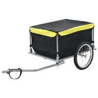 vidaXL Sykkelasttilhenger svart og gul 65 kg