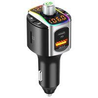 Bluetooth FM-sender med USB-billader PD + QC3.0