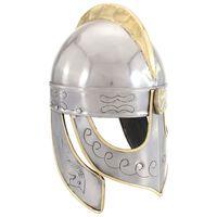 vidaXL Beowulf hjelm antikk replikk LARP sølv stål