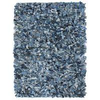 vidaXL Shaggy teppe denim 190x280 cm blå