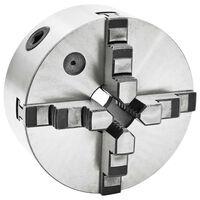 vidaXL Selvsentrerende chuck til dreiebenk 4 bakker 160 mm stål