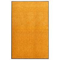 vidaXL Dørmatte vaskbar oransje 120x180 cm