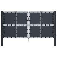 vidaXL Hageport stål 300x150 cm antrasitt