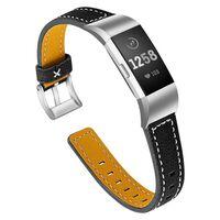 Fitbit Charge 2 armbånd i lær - svart