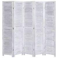 vidaXL Romdeler 5 paneler grå 175x165 cm tre