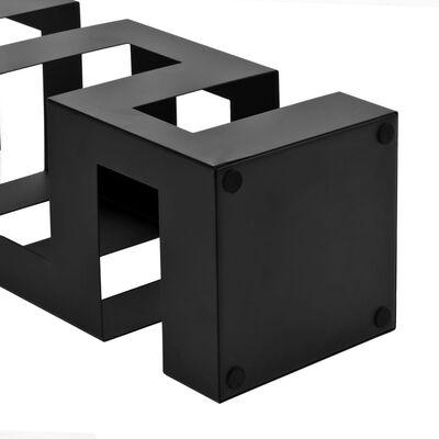 vidaXL Paraplystativ Tetris stål svart