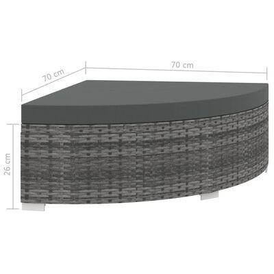 vidaXL Hagesofagruppe med puter 6 deler polyrotting grå