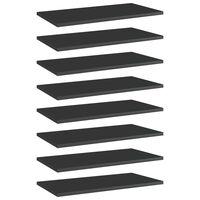 vidaXL Hylleplater 8 stk høyglans svart 60x30x1,5 cm sponplate