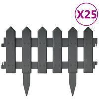 vidaXL Plenkanter 25 stk antrasitt 10 m PP