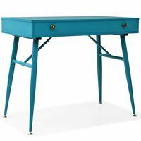 vidaXL Skrivebord med skuff 90x50x76,5 cm antikkgrønn
