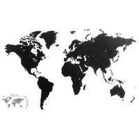 MiMi Innovations Verdenskart Luxury puslespill svart 100x60 cm