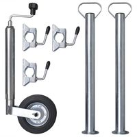 Støttehjul med 2 støttestenger & 3 støttehjulsklemmer